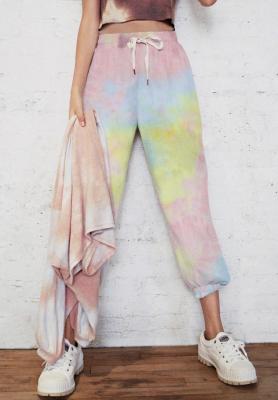 Tie Dye Drawstring Jogger Pants