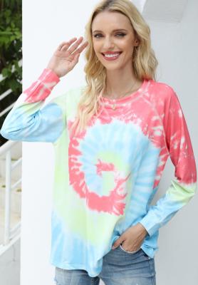 Rainbow Tie Dye Printed Sweatshirt