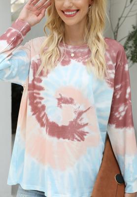 Coffee Tie Dye Printed Sweatshirt