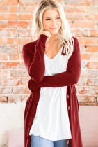 Solid Cardigans with Button