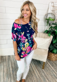 Floral Full Sleeve Open Back Top