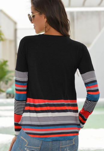 Striped Long Sleeves Top XC831