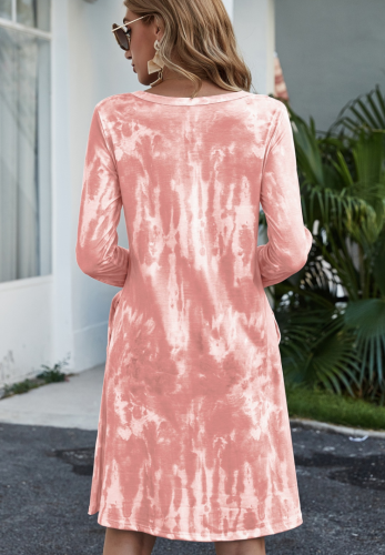 Tie Dye Loose Dresses with Pocket XC837