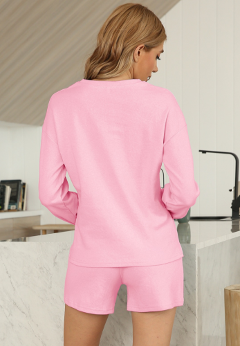 Solid Loungewear 2pcs Set with Pocket XC838