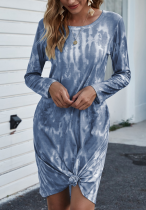 Tie Dye Loose Dresses with Pocket