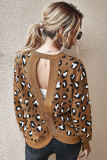 Brown Leopard Pullover Sweater