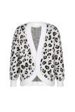 White Leopard Pullover Sweater