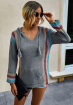 Knitted Hoodies with Pocket