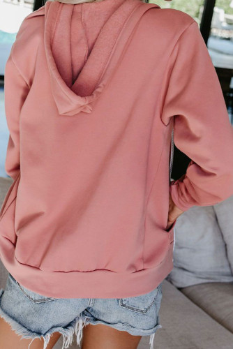 Pink Zip-up Hoodie Jacket LC253726
