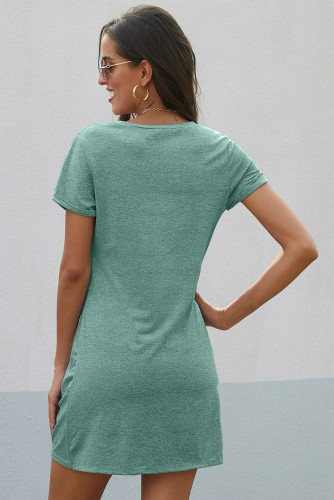 Green The Triblend Side Knot Dress LC220784