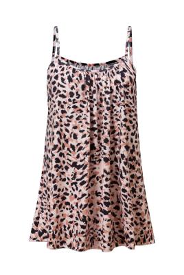 Leopard Ruffled Plus Size Dresses