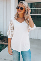 Khaki Leopard Sleeve Top