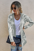 Grey Sweater Cardigan with Pocket