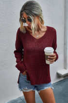 Wine Red Pullover  Sweaters