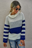 Blue Stripe Pullover Sweater