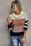 Orange Stripe Pullover Sweater