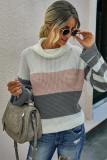 Pink Stripe Pullover Sweater