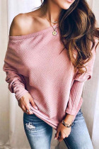 Batwing Sleeve Ribbed Top