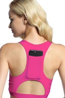 Pink Back Pocket Sport Bra