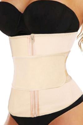 Nude Zipper Front Lose Weight Tummy Compression Belt Waist Trainer