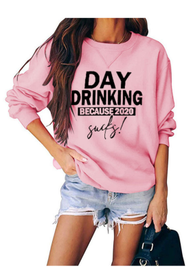 Day Drinking Graphee Loose Sweatshirts