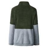 Zip it Up Neck Sweatshirts with Kangaroo pocket