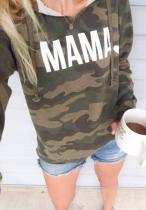 Camo Mama Heart Sweatshirt with Hood