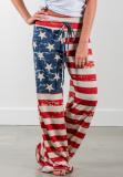 American Flag Loose Long Pants