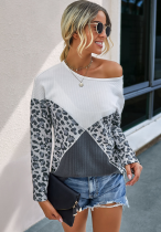 Leopard Knit Loose Top