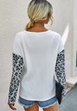 Leopard Knit Loose Top