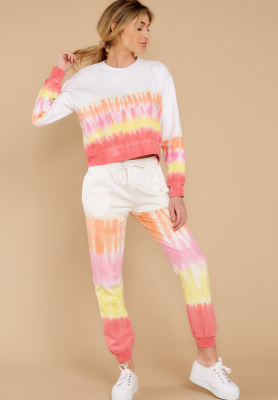 Tie Dye Two Piece Set Outfits