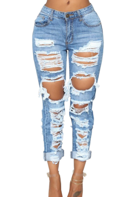 No Stretchy Ripped Jeans