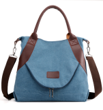 Blue Large Capacity Canvas Tote Bag