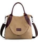 Khaki Large Capacity Canvas Tote Bag