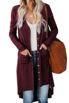Selected Button Down Pocketed High Low Cardigan