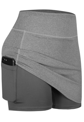 Solid Yoga Stretchy Skirts