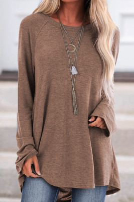 Khaki Knit Tunic Top