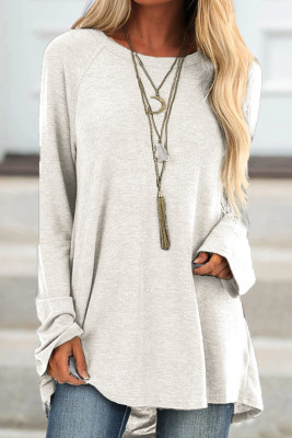 White Knit Tunic Top