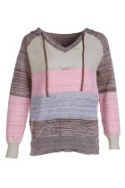 Colorblock Sweater with Hoodies