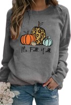 Halloween Pumpkin Pullover Graphee Top