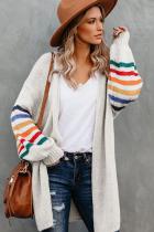 Striped Sleeve Loose Cardigan