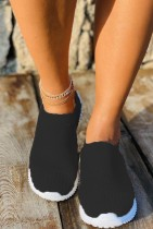 Solid Color Slip On Sneakers