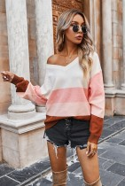 Colorblock Knitted Sweaters