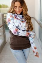 Wild Thing Patchwork Cowl Neck Sweatshirt