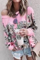 Floral Long Sleeve Plus Size Top
