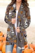 Halloween Pumpking Skull Cardigans