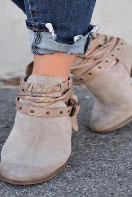 Solid High Heel Boots