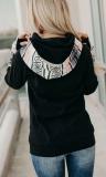 Striped Sleeve Loose Hoodies