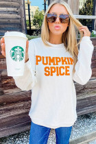 PUMPKIN SPICE Graphic Pullover Knit Top