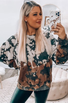 Multi-colour Tie Dye Pullover Sweatshirt